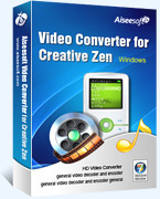 Aiseesoft Video Converter for Creative Zen Coupon Code 15% Off