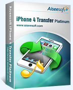 Aiseesoft iPhone 4 Transfer Platinum Coupon – 40% Off