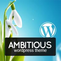 Ambitious – Business & Portfolio WordPress Theme – 15% Discount