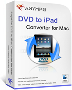 AnyMP4 DVD to iPad Converter for Mac Coupon – 20%