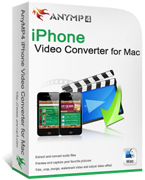 AnyMP4 iPhone Video Converter for Mac Coupon Code – 20%