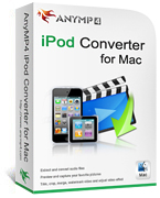 AnyMP4 iPod Converter for Mac Coupon – 20% OFF