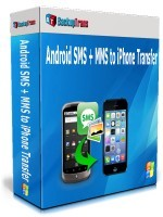Backuptrans Android SMS + MMS to iPhone Transfer (Family Edition) Coupon Discount