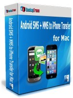 Backuptrans Android SMS + MMS to iPhone Transfer for Mac (Personal Edition) Coupon