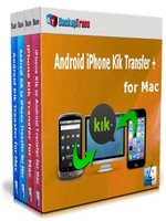 Backuptrans Android iPhone Kik Transfer + for Mac (Family Edition) Coupon