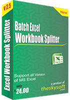 Batch Excel Workbook Splitter Coupon