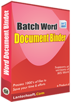 Unique Batch Word Document Binder Coupon