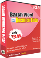 Batch Word Document Binder Coupon