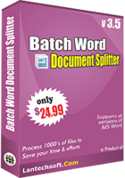 LantechSoft Batch Word Document Splitter Discount