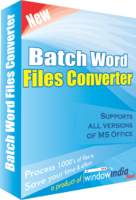 Window India Batch Word Files Converter Coupon