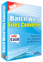 Window India – Batch Word Files Converter Coupons