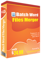 Batch Word Files Merger Coupon Code 15% OFF