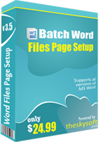 Batch Word Files Page Setup – Exclusive 15 Off Discount