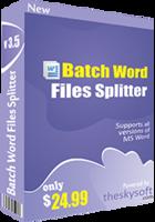 Batch Word Files Splitter Coupon