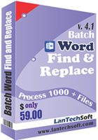 LantechSoft – Batch Word Find & Replace Coupon