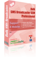 Bulk SMS Broadcaster GSM Professional Coupon