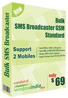 Window India Bulk SMS Broadcaster GSM Standard Coupon Sale