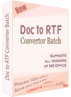 Doc to RTF Converter Batch Coupon