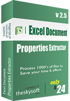 TheSkySoft Excel Document Properties Extractor Coupon Sale