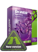 Doctor Web France Home products (Dr.Web Anti-Virus)+Free protection for mobile device! Coupon