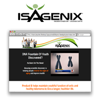 Opp Websites – Isagenix Product B Page ~ Yearly Subscription Sale