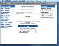 Midi Converter for Mac (Personal License) – 15% Sale