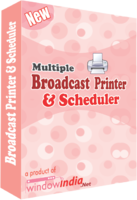Multiple Broadcast Printer N Scheduler Coupons