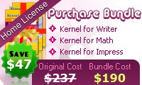 OpenOffice Repair Software – Home License Coupon