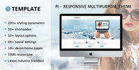 Pi Multipurpose Responsive WordPress Theme – 15% Sale