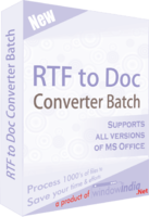 Window India RTF TO DOC Converter Batch Coupon