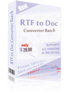 RTF TO DOC Converter Batch Coupon