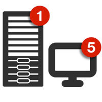 Retrospect.INC Retrospect Single Server (Disk-to-Disk) 5 Workstation Clients v.11 for Windows w/ 1 Yr Support & Maintenance (ASM) Discount