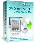 Tipard Tipard DVD to iPad 2 Converter for Mac Coupon