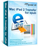 Tipard Mac iPad 2 Transfer for ePub Coupon Code 15% OFF