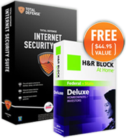 Total Defense ISS US Annual + H&R Block at Home Deluxe Edition Bundle – 15% Sale