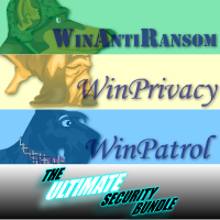 15% Ultimate Bundle 5 User License for WinAntiRansom WinPatrol and WinPrivacy w/ Annual Renewal Coupon Code