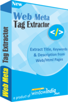 Web Meta Tag Extractor Coupon Code