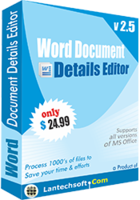 Word Document Details Editor Coupon