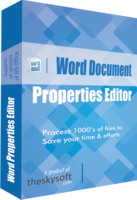 TheSkySoft Word Document Properties Editor Coupon Sale