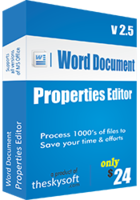Word Document Properties Editor Coupon Code 15%