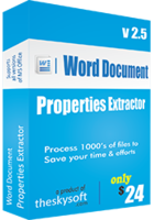 TheSkySoft – Word Document Properties Extractor Coupon Deal