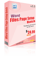 Word File Page Setup Batch – Exclusive 15% Off Coupons