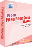 Window India – Word File Page Setup Batch Coupon