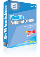 Premium Word File Properties Extractor Coupon Sale