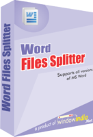 Window India Word Files Splitter Coupon Sale