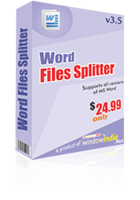 Word Files Splitter Coupon