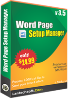 LantechSoft – Word Page Setup Manager Sale