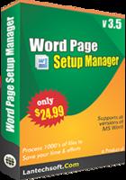 LantechSoft – Word Page Setup Manager Sale