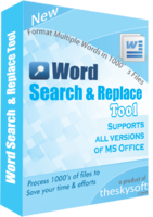 Word Search and Replace Tool Coupon