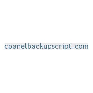 cPanelBackupScript Installation Service Coupon